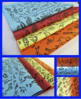 papel serigrafia animalitos 70x100