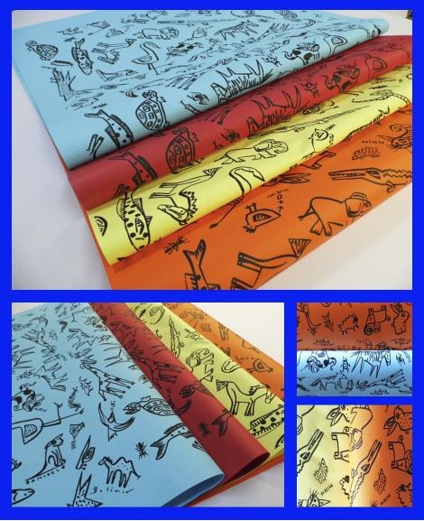 papel serigrafia animalitos 70×100