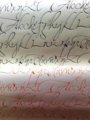 pliego caligrafia